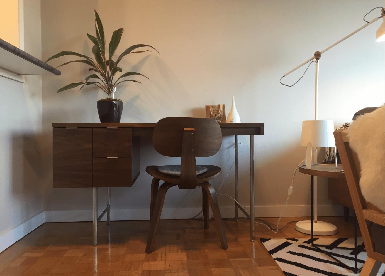 Comox Residence Gus* Modern Conrad Desk, Gus* Modern Thompson Chair