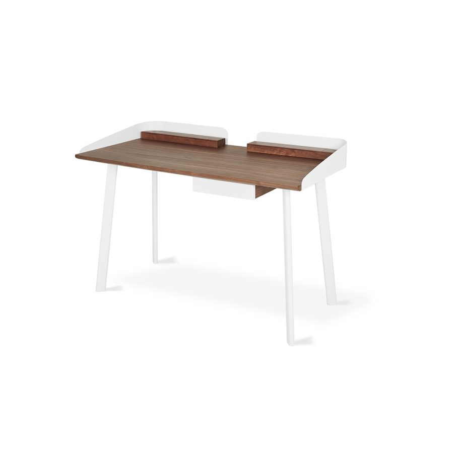 Gus Gander Desk - Walnut/White