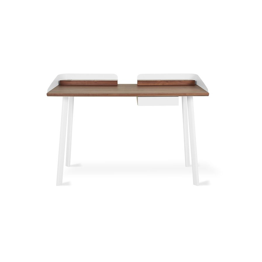Gus Gander Desk - Walnut/White - P02