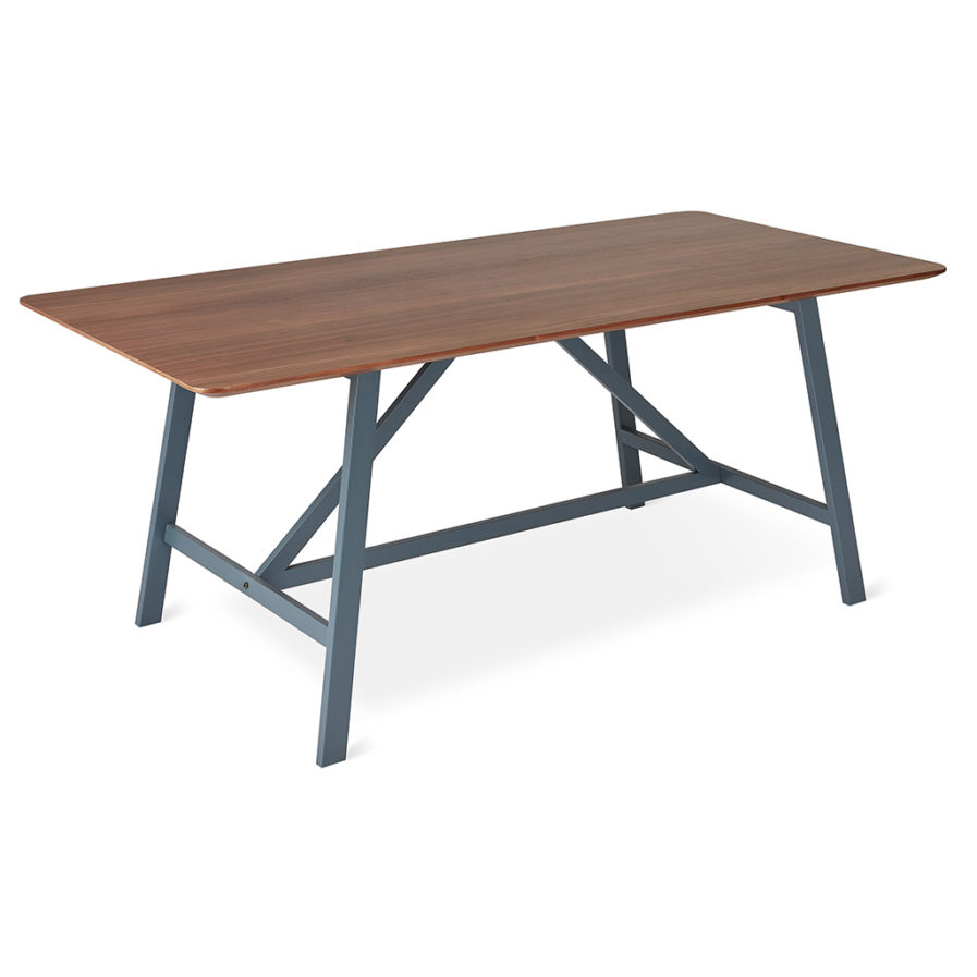 Gus Wychwood Dining Table - Walnut; Slate Grey